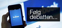 Følg debatten på FaceBook